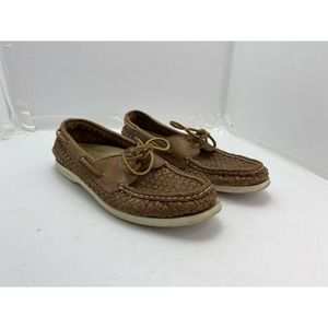 Sperry Women's Woven Leather Shoe Sz 9.5